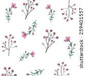 flowers and leaves wallpaper... | Shutterstock .eps vector #259401557