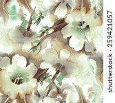 Floral Seamless Pattern. Raster Illustration