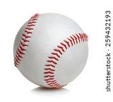 baseball ball on white...   Shutterstock . vector #259432193