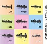 set of 9 city   buffalo  fort... | Shutterstock .eps vector #259436183