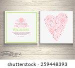 floral banner in vintage style. ...   Shutterstock .eps vector #259448393