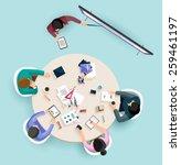 business presentation. flat... | Shutterstock .eps vector #259461197