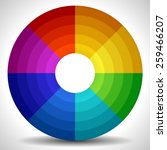 circular color wheel   color...