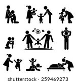 children and their parents.... | Shutterstock .eps vector #259469273