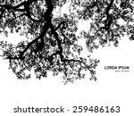 background silhouette of tree... | Shutterstock .eps vector #259486163