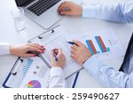 doctor and patient isolated on... | Shutterstock . vector #259490627