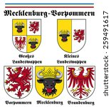 coat of arms of mecklenburg... | Shutterstock .eps vector #259491617