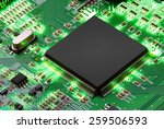 electronic circuit board with...   Shutterstock . vector #259506593
