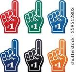 foam finger   we're  1 icon | Shutterstock .eps vector #259512803