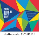 vibrant colorful prism design... | Shutterstock .eps vector #259534157