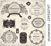 vector set  calligraphic design ... | Shutterstock .eps vector #259535747