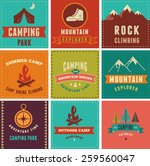 Hiking  Camp Badges  Icons...