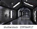 dark futuristic spaceship... | Shutterstock . vector #259566917