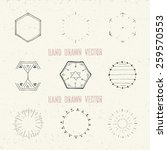 set of hand drawn vintage... | Shutterstock .eps vector #259570553