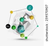 color paper infographics ... | Shutterstock .eps vector #259570907