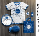 blue digital promotional... | Shutterstock .eps vector #259593677
