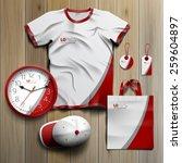 white classic promotional... | Shutterstock .eps vector #259604897
