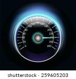 speedometer   Shutterstock .eps vector #259605203