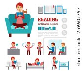 benefits of reading books... | Shutterstock .eps vector #259605797
