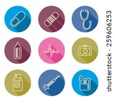 set of medical line icons ... | Shutterstock .eps vector #259606253