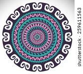 mandala. ethnic decorative... | Shutterstock .eps vector #259611563