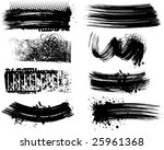 8 grunge brushes line | Shutterstock .eps vector #25961368