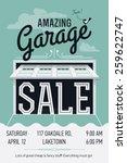 creative vector garage or yard... | Shutterstock .eps vector #259622747