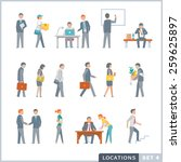 working people. office. flat... | Shutterstock .eps vector #259625897