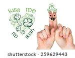 patricks day fingers against... | Shutterstock . vector #259629443