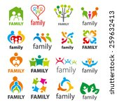 large collection of vector... | Shutterstock .eps vector #259632413