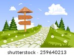 Vector Summer Landscape With A...