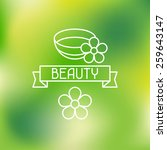 spa beauty label on blurred... | Shutterstock .eps vector #259643147