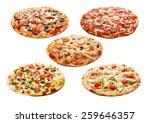 set of the best italian pizzas... | Shutterstock . vector #259646357