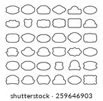 thirty six black labels... | Shutterstock .eps vector #259646903