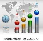 modern 3d business infographics ... | Shutterstock .eps vector #259653077