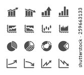 infographic and chart icon set... | Shutterstock .eps vector #259663133