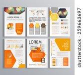white geometric brochure... | Shutterstock .eps vector #259663697