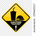 caution with food or drink...   Shutterstock .eps vector #259665317
