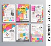 white creative brochure... | Shutterstock .eps vector #259665773