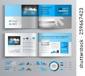 classic brochure template... | Shutterstock .eps vector #259667423