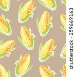 seamless corn pattern. | Shutterstock .eps vector #259669163