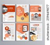 classic white brochure template ... | Shutterstock .eps vector #259669877