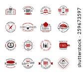 vintage bakery badges  labels... | Shutterstock .eps vector #259673597