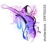 hands up girl   Shutterstock .eps vector #259702253