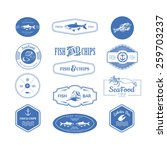 logo set for seafood restaurant ... | Shutterstock .eps vector #259703237