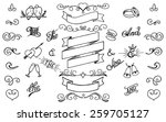 hand drawing decor elements set.... | Shutterstock .eps vector #259705127