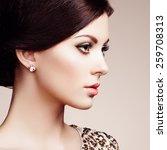 fashion portrait of elegant... | Shutterstock . vector #259708313