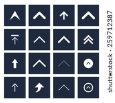 upload arrow icon set... | Shutterstock .eps vector #259712387