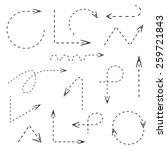 dash line arrows  hand drawn... | Shutterstock .eps vector #259721843