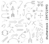 arrows  hand drawn arrows set  | Shutterstock .eps vector #259721993